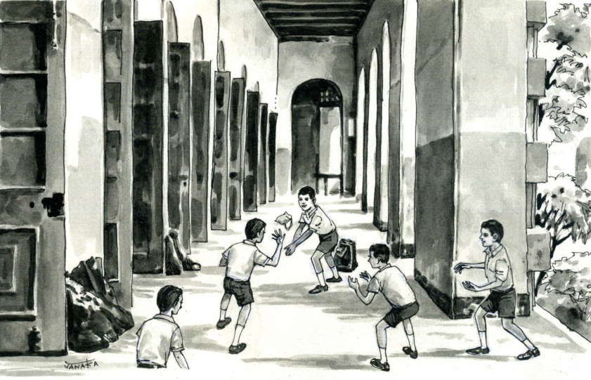Best of Corridor Cricket at St Joseph's College, Colombo in the early 1970s (© Ranjan Mellawa)