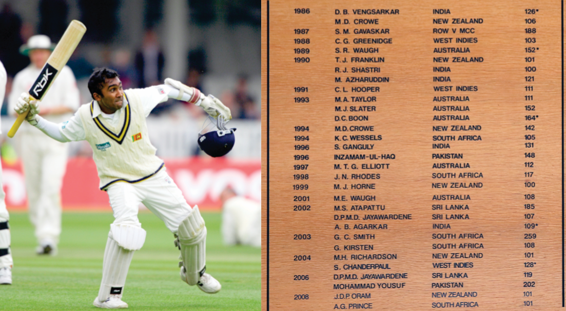 Mahela Jayawardena of Sri Lanka achieves cricket history.