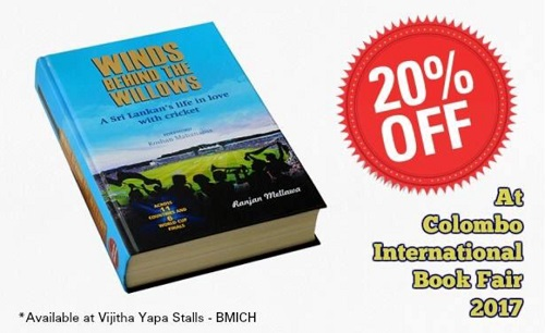 Receive a 20% discount on Winds Behind the Willows at the 2017 Colombo International Book Fair!