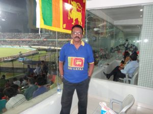 The author, Ranjan Mellawa, at the 2014 ICC World Twenty20 final.
