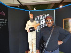 Ranjan Mellawa at the New Zealand Cricket Museum.