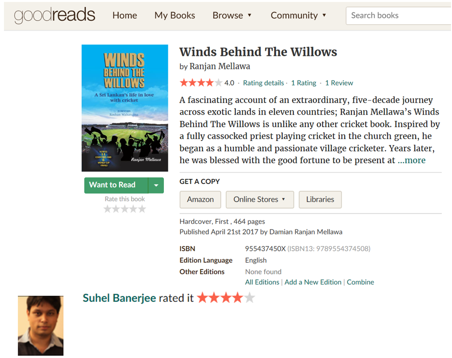 Review of Winds Behind the Willows at goodreads