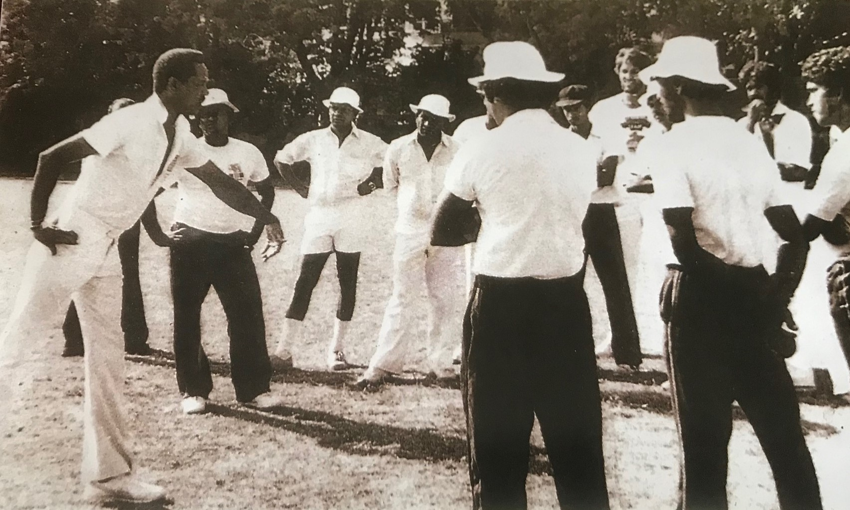 Gary Sobers coaching Sri Lanka in the eighties